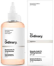 Profumi e cosmetici Lozione tonica rigenerante con acido glicolico 7% - The Ordinary Glycolic Acid 7% Toning Solution