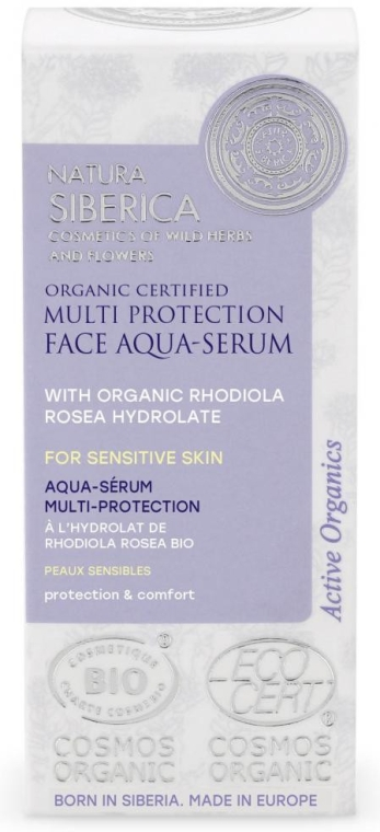 Acqua-siero viso - Natura Siberica Organic Certified Multi Protection Face Aqua-Serum — foto N2