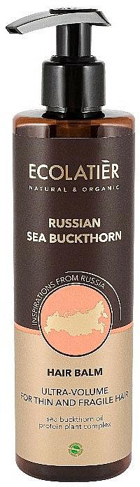 """Balsamo per capelli sottili e fragili """"Olivello spinoso russo"""" - Ecolatier Russian Sea Buckthorn Hair Balm"""