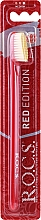 """Profumi e cosmetici Spazzolino da denti """"Red Edition"""", medio, rosso-giallo - R.O.C.S."""