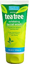 "Profumi e cosmetici Gel detergente viso ""Albero del tè"" - Beauty Formulas Tea Tree Exfoliating Facial Wash"