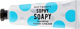 """Profumi e cosmetici Crema mani nutriente """"Sophy Soapy"""" - Duft & Doft Nourishing Hand Cream Sophy Soapy Soap&Orchid Flowers"""