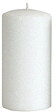 Profumi e cosmetici Candela decorativa, bianca, 7x14 cm - Artman Glamour