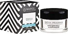 Profumi e cosmetici Crema viso opacizzante per pelli grasse e miste - Markell Cosmetics Detox Program Face Cream