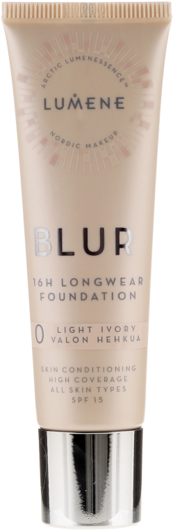 Fondotinta persistente - Lumene Blur 16H Longwear Foundation SPF15 2 Soft Honey