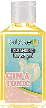 "Profumi e cosmetici Gel detergente antibatterico ""Gin and Tonic"" - Bubble T Cleansing Hand Gel Gin & Tonic"
