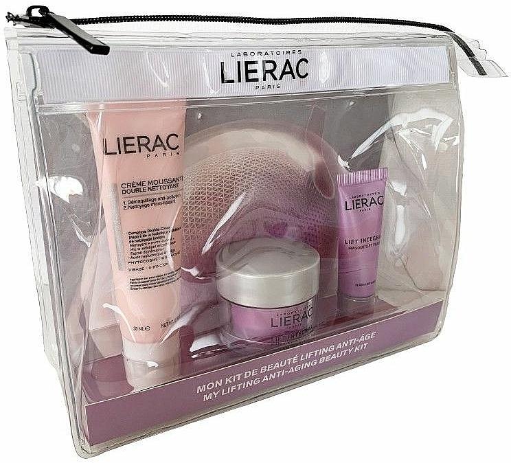 Set - Lierac Lifting Anti-Aging Travel Kit (f/cr/15ml + f/mask/10ml + f/foam/30ml + bag) — foto N1