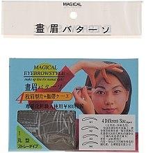 Profumi e cosmetici Stencil per sopracciglia, A1, A2, A3, A4 - Magical Eyebrow Style