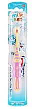 """Profumi e cosmetici Spazzolino da denti per bambini """"Il mio primo dente"""", rosa-giallo - Aquafresh Milk Teeth"""