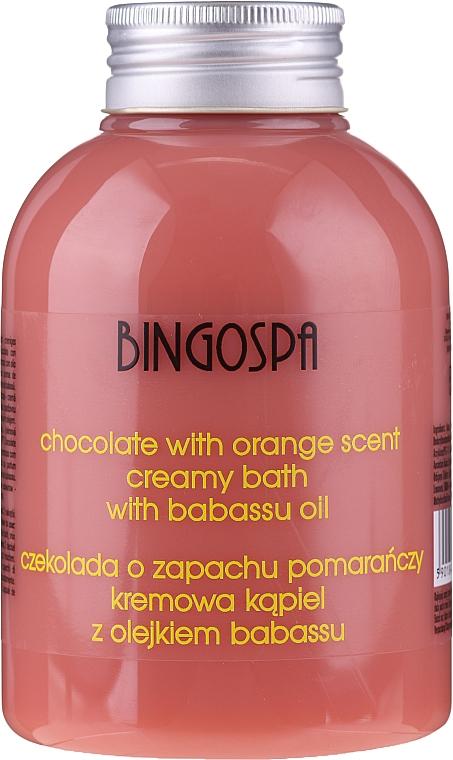 Crema da bagno con estratto di cioccolato e arancia - BingoSpa Creamy Chocolate Bath With Orange Oil