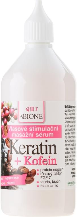 Siero per capelli - Bione Cosmetics Keratin + Caffeine Stimulating Massaging Hair Serum — foto N2