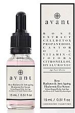 Profumi e cosmetici Siero antietà contorno occhi - Avant Rose Radiance & Anti-ageing Hyaluronic Eye Serum