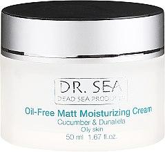 Crema opacizzante idratante senza grassi, con estratti di cetriolo e dunaliella - Dr. Sea Oil-Free Matt Moisturizing Cream — foto N2