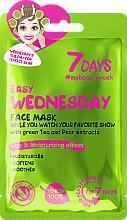 """Profumi e cosmetici Maschera viso idratante con estratti di tè verde e pera """"Easy wednesday"""" - 7 Days Easy Wednesday"""