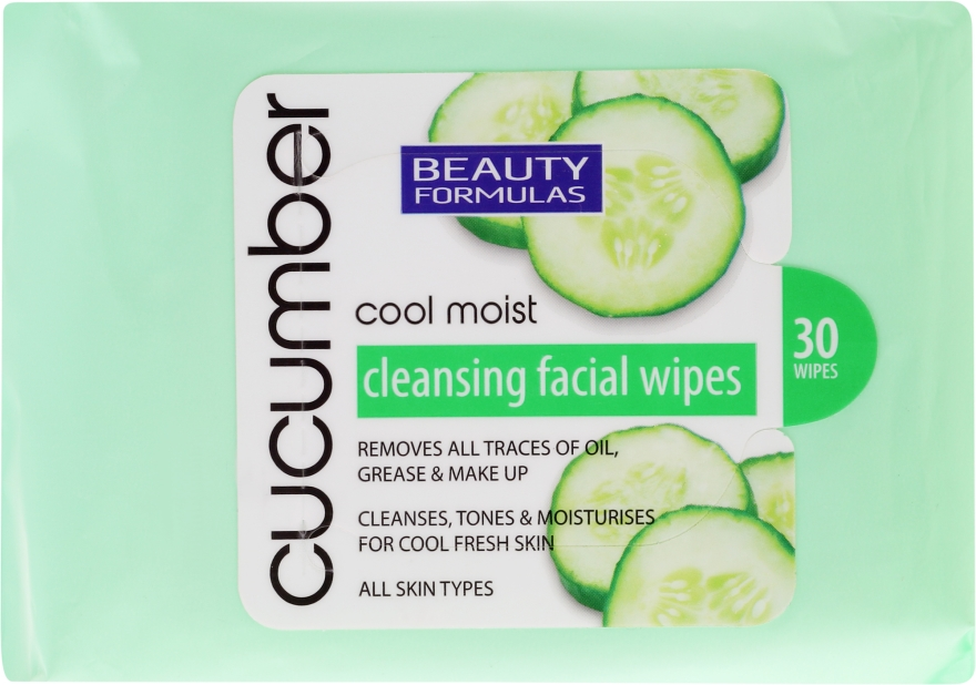 Salviette struccanti - Beauty Formulas Cucumber Cleansing Facial Wipes