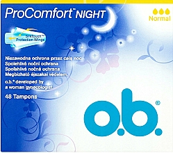 Profumi e cosmetici Tamponi, 48 pz - O.b. ProComfort Night Normal