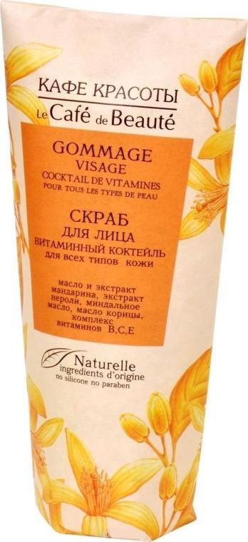 """Scrub viso """"Cocktail vitaminico"""" per tutti i tipi di pelle - Le Cafe de Beaute Scrab"""