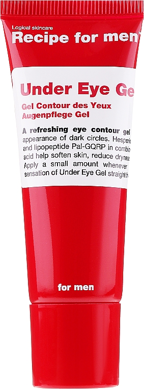 Gel contorno occhi uomo - Recipe For Men Under Eye Gel — foto N1