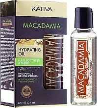 Profumi e cosmetici Olio rigenerante per capelli normali e danneggiati - Kativa Macadamia Hydrating Oil