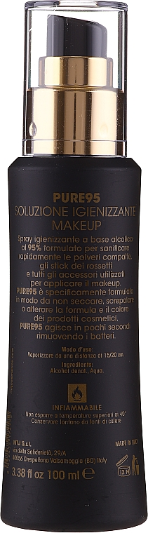 Spray disinfettante - MTJ Cosmetics Pure 95 Makeup Sanitizing — foto N2