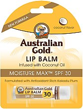 Profumi e cosmetici Balsamo labbra al cocco - Australian Gold Lip Balm Infused With Coconut Oil SPF 30