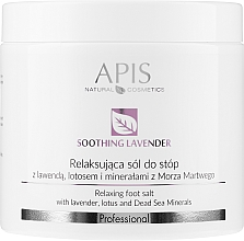 "Profumi e cosmetici Sale per i piedi ""Lavanda"" - APIS Professional Lavender Soothing Relaxing Foot Salt"