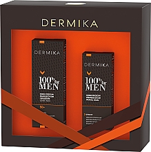 Profumi e cosmetici Set - Dermika 100% For Men (f/cr/50ml + eye/cr/15ml)