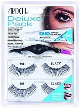Profumi e cosmetici Set ciglia finte - Ardell Eyelash 105 Deluxe Kit Black