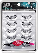 Profumi e cosmetici Set ciglia finte - Set ciglia finte Ardell 5 Pack Babies Black (10pz)