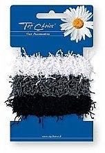 Profumi e cosmetici Elastici per capelli, 3 pz, bianco, nero, grogio - Top Choice