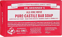 """Profumi e cosmetici Sapone """"Rosa"""" - Dr. Bronner's Pure Castile Bar Soap Rose"""