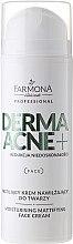 Profumi e cosmetici Crema viso opacizzante idratante - Farmona Dermaacne+ Moisturising Mattifying Face Cream