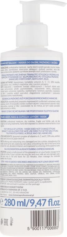 Lozione-maschera mani con vitamine - Farmona Hands and Nails Artist Vitamin Lotion-Mask — foto N4