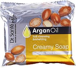 Profumi e cosmetici Sapone in crema all'olio di argan per il viso - Dr.Sante Cream Soap