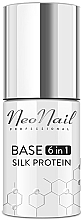 Profumi e cosmetici Base e top coat per smalto gel 6 in 1 - NeoNail Professional Base 6in1 Silk Protein