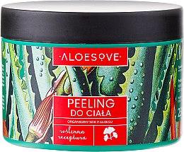 Profumi e cosmetici Peeling corpo, con succo di aloe biologico - Aloesove