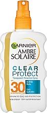 Profumi e cosmetici Spray solare bifasico SPF 30 - Garnier Ambre Solaire Clear Protect Spray SPF30