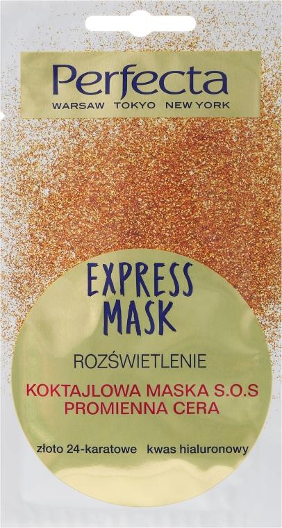 "Maschera viso SOS-cocktail ""Oro 24 carati e acido ialuronico"" - Perfecta Express Mask"