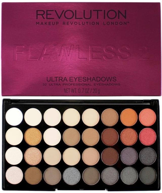 Palette ombretti, 32 tonalità - Makeup Revolution Ultra 32 Shade Palette Flawless 2
