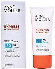 Profumi e cosmetici Crema-fluido protezione solare - Anne Moller Double Care Ultralight Facial Protection Fluid SPF50