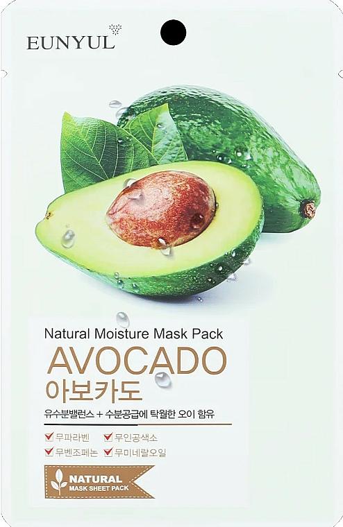 Maschera viso in tessuto idratante all'avocado - Eunyul Natural Moisture Mask Pack Avocado