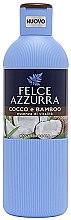 Profumi e cosmetici Gel doccia - Felce Azzurra Coconut and Bamboo Body Wash