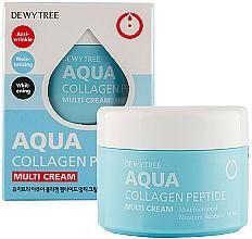 Profumi e cosmetici Crema viso idratante - Dewytree Aqua Collagen Peptide Cream