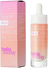 Siero solare viso - Hello Sunday The One That's A Serum Face Drops SPF 45 — foto N4