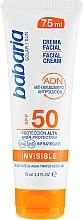 Profumi e cosmetici Crema solare per viso - Babaria Invisible Facial Sun Cream Spf 50