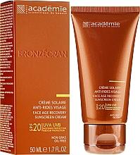 Profumi e cosmetici Crema solare rigenerante SPF 20+ - Academie Bronzecran Face Age Recovery Sunscreen Cream