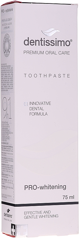 Dentifricio sbiancante - Dentissimo Pro-Whitening Tothpaste