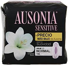 Profumi e cosmetici Assorbenti igienici, 14 pz - Ausonia Sensitive Normal With Wings