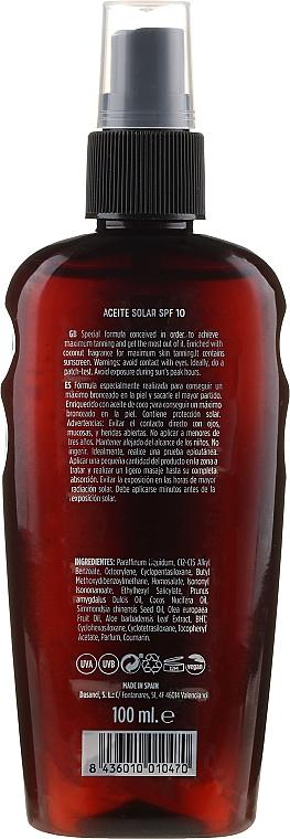 Olio solare - Mediterraneo Sun Coconut Suntan Oil SPF10 — foto N2
