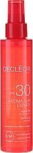Profumi e cosmetici Olio per corpo e capelli - Decleor Aroma Sun Expert Summer Oil Spf30